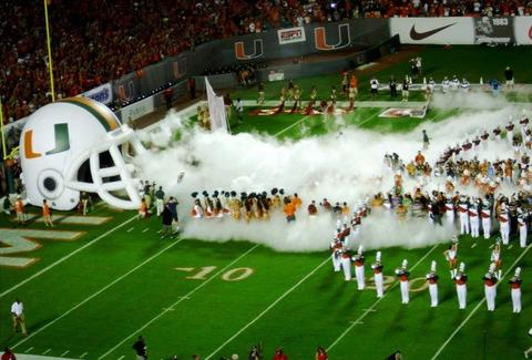 Miami Hurricanes Smoke