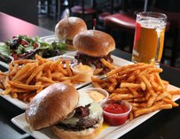 Burger and fries at Prohibition in Los Angeles