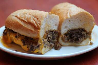 Philly Cheese Steak at Devil's Advocate in Minneapolis, Minnesota.