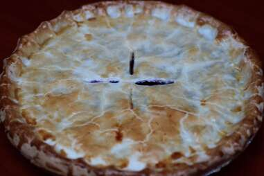 Pie at Devil's Advocate in Minneapolis, Minnesota.