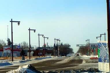 The rural town of Vulcan, Alberta.