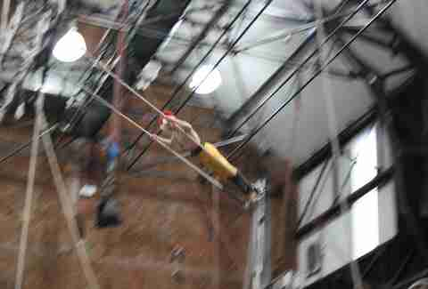 Trapeze training at Circus Space in London, England.