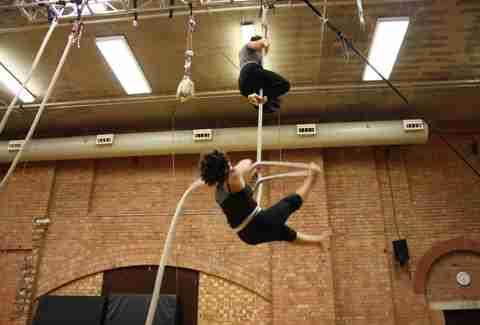 Rope training at Circus Space in London, England.