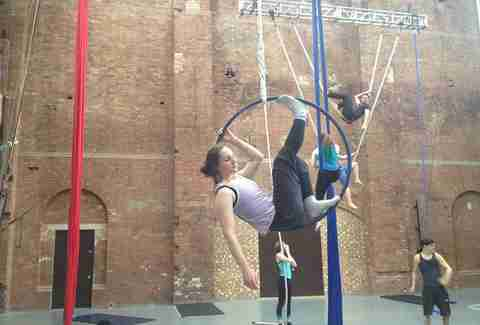 Circus training at Circus Space in London, England.
