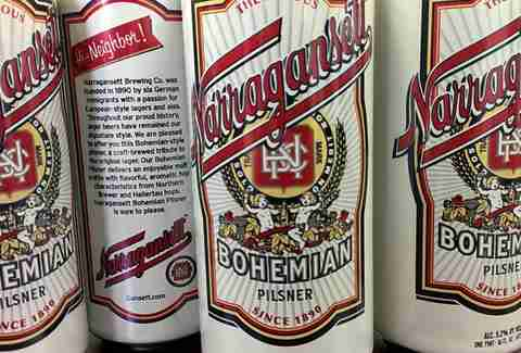 Narragansett's just-canned Bohemian Pilsner