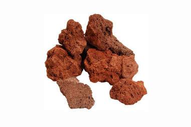 Grilling lava rocks