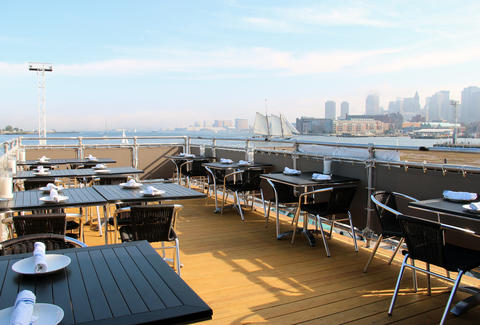 Rooftop deck at Pier 6