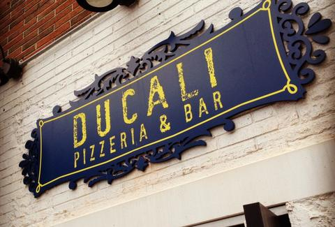 Sign outside Ducali's