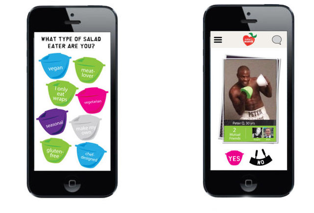 Meet your soulmate through SaladMatch, the most hilarious dating app ever