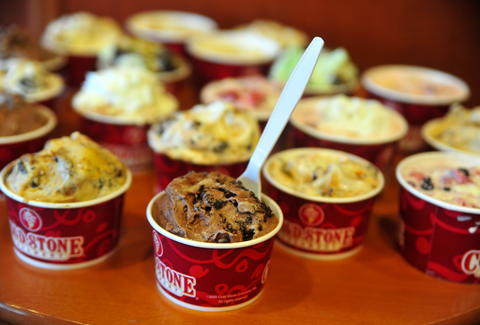 ice cream at Coldstone Creamery