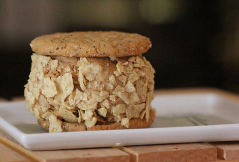 An ice cream sandwich from Cookie Confidential