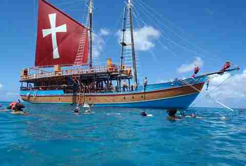 Party on a pirate ship in Barbados