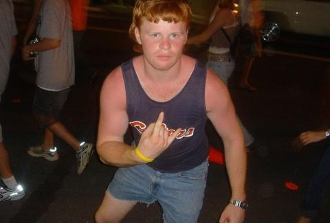 Jorts wearing UF Gator Fan