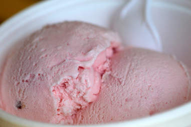 Rose petal ice cream at Delicias Natural in Avondale