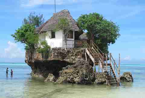 the rock on zanzibar