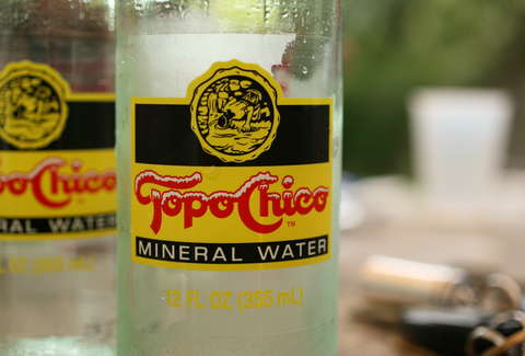 Topo Chico close-up