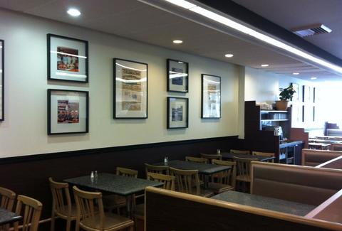 Interior of Snowdon Deli