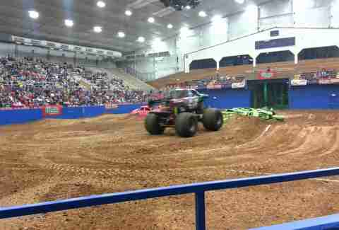 Monster trucks at the Travis County Expo Center