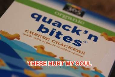 Whole Foods organic quackn bites cheese crackers