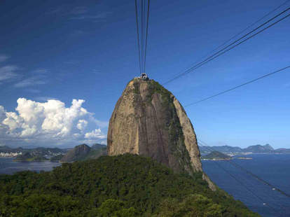 View of the top of Sugarloaf from the cable car