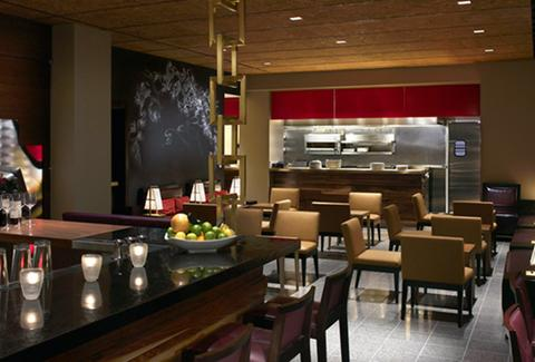 Inside the restaurant/bar of Hotel Palomar