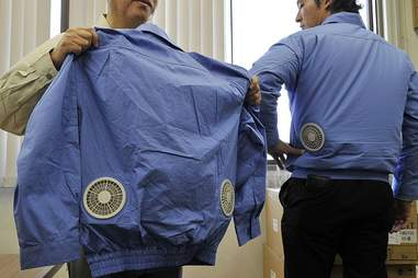Kuchofuku air-conditioned travel garments.