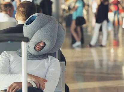 Ostrich pillow for traveling