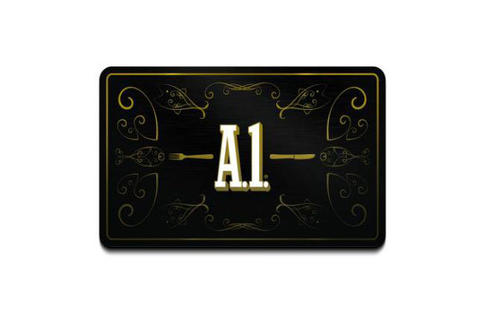 A1 Steak Sauce Card