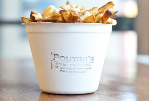 A cup of poutine