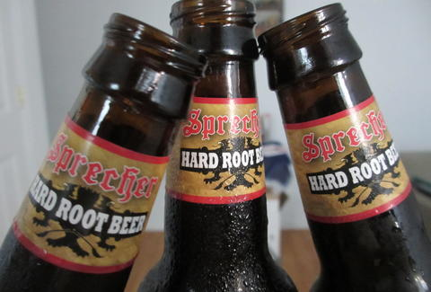 Sprecher Bourbon Barrel Hard Root Beer bottles