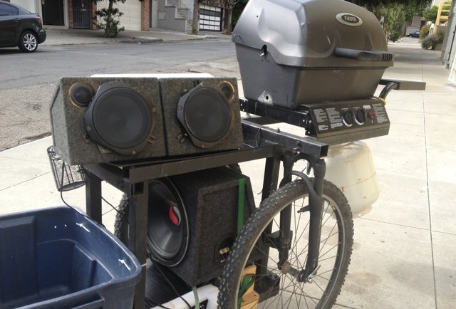 This Grill Trike is the raddest BBQ on three wheels, and it could be yours
