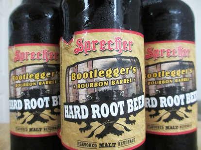 Sprecher Bourbon Barrel Hard Root Beer label