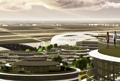 Houston Spaceport artist's renderings.