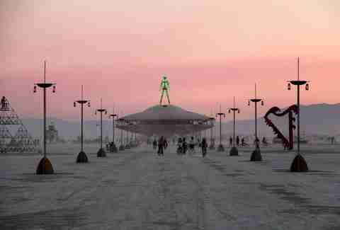 alien dude at burning man