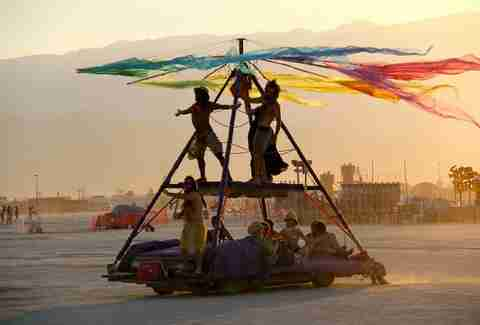 king of the world at burning man