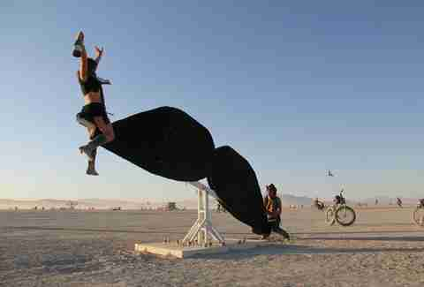 mustache ride burning man