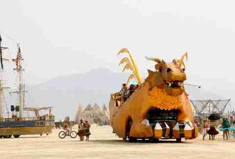parade at burning man