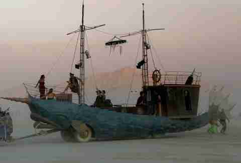 narwhal car ship burning man