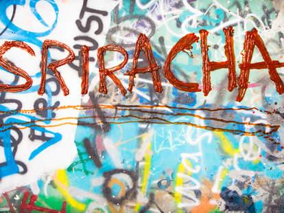 Sriracha graffiti