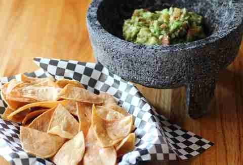 Chips and guacamole at Nico's Taco & Tequila Bar in Uptown, Minneapolis, Minnesota.