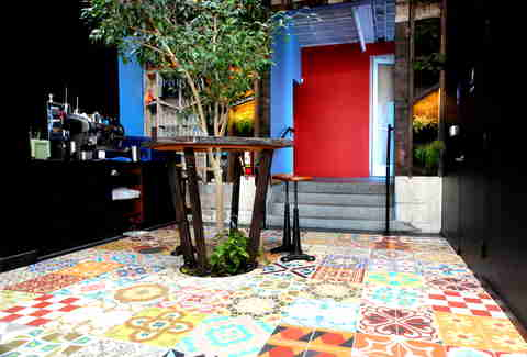 Courtyard at La Urbana