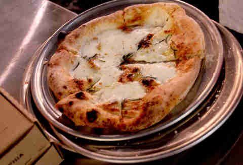 The four cheese pizza at Pizzeria Vetri