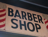 "Sign reading ""Barber shop"""