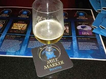 A beer at Mile Marker