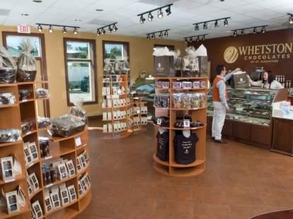 Interior of Whetstone Chocolate store