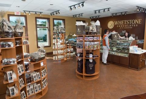Interior of Whetstone Chocolate store