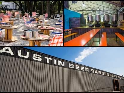 Austin Beer Garden Brewing Co collage