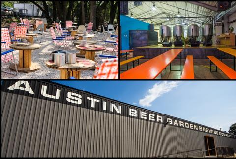 Austin Beer Garden Brewing Co collage
