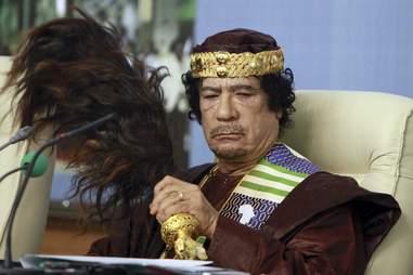 Muammar Gaddafi looking weird