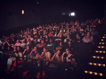 The audience for a screening at the Angelika Film Center